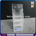 Tsd-a532 china fábrica personalizado claro parede de acrílico montagem suporte para documentos/plástico titular revista/montado na parede suporte acrílico arquivo