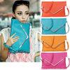 Fashion Women's Rivet Decor Envelope Purse Clutch Synthetic Leather Lady Hand Shoulder Bag Purse Handbags/bags