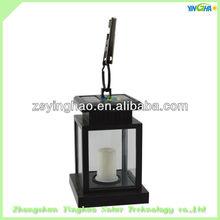 Black plastic portable antique solar led lantern