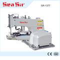 Sr-1377 button machine anexando jeans máquina de costura automática botão snap anexando máquina