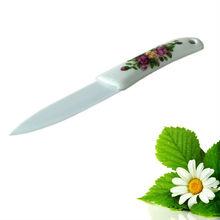 "4"" white ceramic Handle, Kitchen ceramic utility knife"