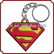 Promotion custom keychain pvc keychain rubber keychain
