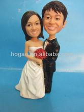 polyresin wedding favor bobble head,resin figurine