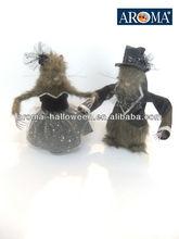 2013 halloween rat decoration/decorative rat couples decoration