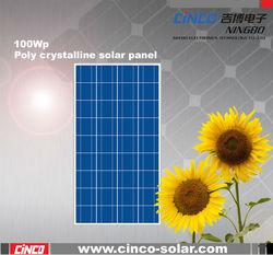 100W poly crystalline solar panel, best price power 100w solar panel
