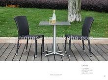 Austin stainless-steel sq. table Lerida alum wicker chair square parasol garden furniture 3pcs/set