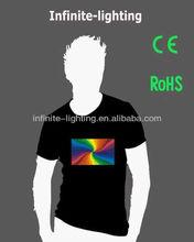 custom flash tee shirts factory supplier/flash tee/flash tee shirt for Christmas Party