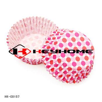 Polka Dot greaseproof paper cupcake