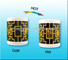 Temperature Sensing color changing earthware mug