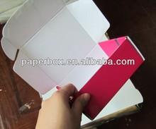 tab lock hot pink corrugated paper box shipping box