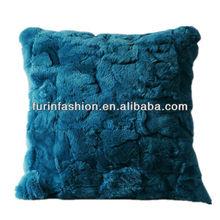 HOT SELL 45*45cm Rex Rabbit Scrap Fur Pillow