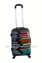 Korea fashion trolley luggage Decent abs/pc trolley bag/trolley luggage with 4 universal wheels