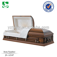 New design cheap lacquered small antique wooden casket