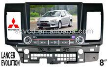 "(MITSUBISHI LANCER EVOLUTION) 8"" car dvd player with NAVIGATION"