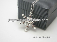 Christmas present!! Silver Snowflake Charm Necklace