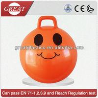 Strong pvc skip ball quadrate handle jumping ball