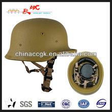 anti-riot glass fiber helmet of German M35 style in sandy yellow