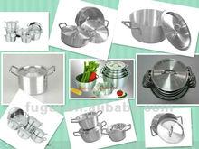 7Pcs Aluminium Cookware Pot Set