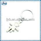 custom fashion girl's key chains wholesale/zinc alloy hot sell keyring