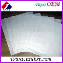 White Glassine Paper