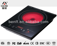 High quality multifunction CB approval touch control 2000w ceramic cooktop cover