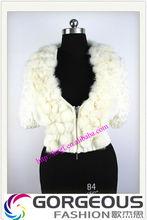 inverno di abbigliamento di moda cappotto in maglia con pelliccia di coniglio