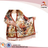 Lady's Wrap Floral Printed Dress Silk Shawl
