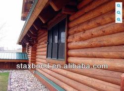 STAXBOND log wood prefab container house cabin bungalow match UL starndard