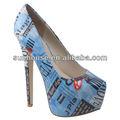 レディースハイグラフィック絵画の靴をドレスアップ