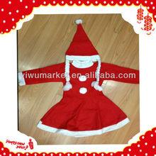 Yiwu hot style girls christmas clothings fashion christmas decoration wholesale
