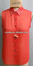 different style of blouses chiffon with beads