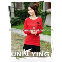 Branded long sleeve organic cotton tshirt