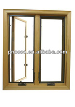 Aluminium crank windows casement window with toughened glass