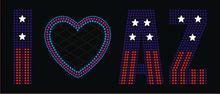 LOVE USA rhinestone transfer B 1 11 26