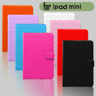 Popular wholesale leather case for ipad mini with stand function