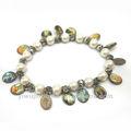Bracelets de chapelet religieux, simple face Époxy figure catholique médaille des images, artificielle perles bracelet