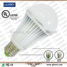 UL approved E27/B22 base 1000 lumen 10w led bulb light