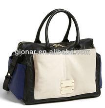 2013 New product black big leather satchel bag for women/genuine leather bag ladies/celebrity handbag women Guangzhou MX8227