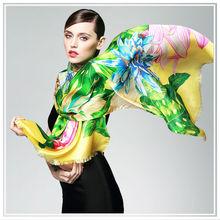 Colourful High Quality Digital Printing Silk Scarf