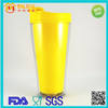 Double Wall Plastic Thermo Cup BPA Free Plastic Cup Leak Proof Cup