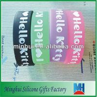 debossed I love Hello kitty silicon shamballa bracelet
