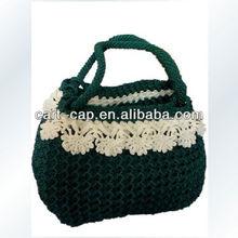 High quality of weaver handmade crochet and portable mini bag