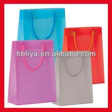 Custom printed square bottom shopping bags