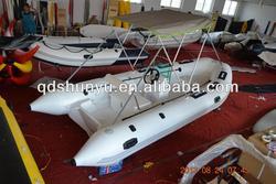 CE center control fiberglass inflatable rib boat