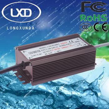 60W waterproof constant current led transformer with 300mA 350mA 450mA 600mA 700mA 900mA