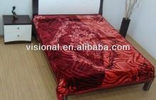 Hot selling New design polyester Raschel Blankets