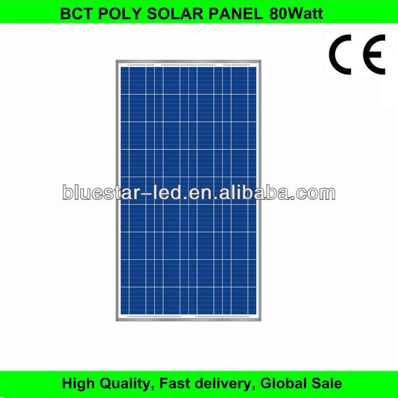 High efficiency 12v 80W solar module