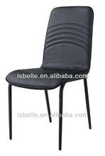 DB-1202 new design black pvc indonesian dining chairs
