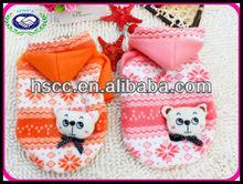 Lovely Orange and Pink pet dog jacket