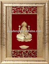 24k fine gold leaf india god laxmi home decoration frame hot selling in dewali 2015